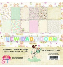 Paper pad New Baby Born 6x6 Craft & You