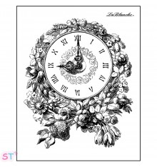 Sello Floral Clock