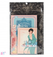 Cafe Parisian Ephemera Cards Graphic 45