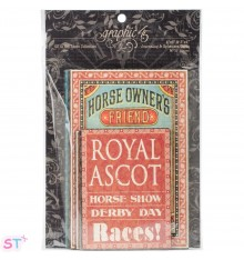 Off To The Races Ephemera Cards Graphic 45