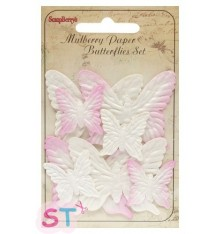 Mariposas Rosas x 8