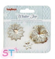 Set de Flores de Metal Winter Joy Scrapberrys