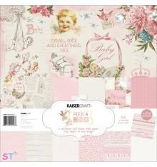Paper pad Peek-A-Boo Girl 12x12