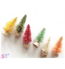 Mini árboles Merry & Bright x 6