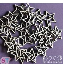 Estrellas para calendario de Adviento