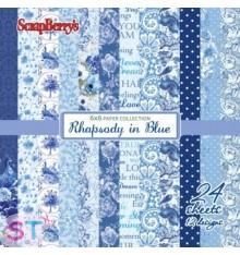Paper Pad Rapsody in Blue 6x6 Scrapberrys