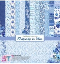 Paper Pad Rapsody in Blue 12x12 Scrapberrys