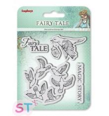 Sellos Fairy Tale Pájaros x 4