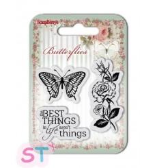 Sellos de silicona Butterflies The Best Things de Scrapberrys