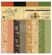 Paper Pad Master Detective Solids 12x12 Graphic45