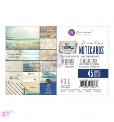 St. Tropez Journaling 4x6 Cards de Prima Marketing