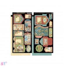 Penny's Paper Doll Tags and Pockets Cartulina precortada Graphic 45