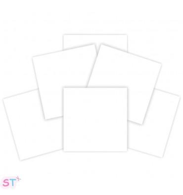 6 Cartón Blanco de 6x6