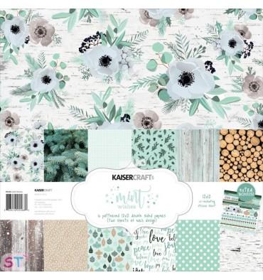 Paper pad Mint Wishes 12x12