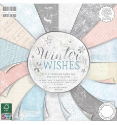 Paper pad First Edition Winter Wishes 12x12 Dovecraft