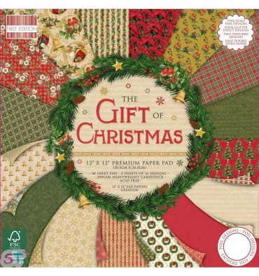 Paper pad First Edition The Gift of Christmas 12x12 Dovecraft