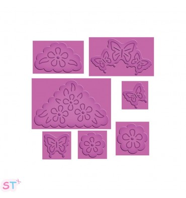 Troqueles Pop-Up Butterflies & Flowers Spellbinders x 7