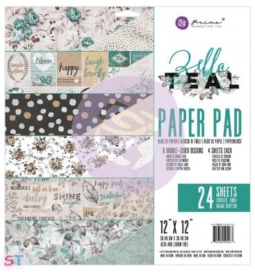 Paper pad Zella Teal 12x12 Prima Marketing