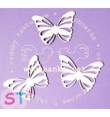 Mariposas Caladas x 3