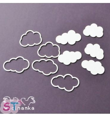Nubes con relieve x 4