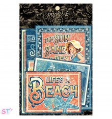 Sun Kissed Ephemera Cards Graphic 45