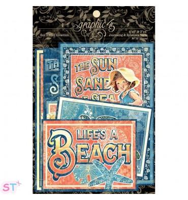 Sun Kissed Ephemera Cards Graphic 45