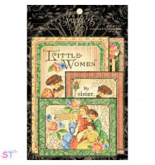 Little Women Ephemera Cards Graphic 45