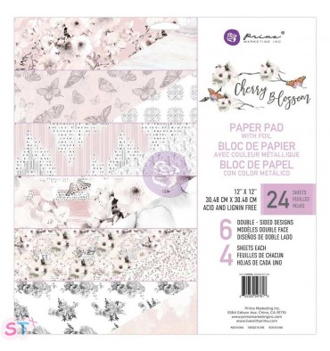 Paper pad Cherry Blossom 12x12 Prima Marketing