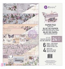 Paper pad Lavender 12x12 Prima Marketing