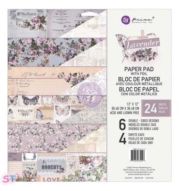 Paper pad Lavender 12x12 Prima Marketing
