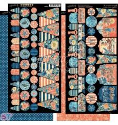 Sun Kissed Banners Cartulina precortada Graphic 45