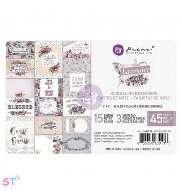 Lavender Journaling 4x6 Cards de Prima Marketing