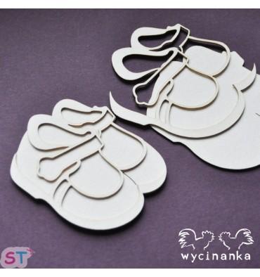 Zapatos en relieve x 2