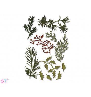 Troquel Thinlits Holiday Greens
