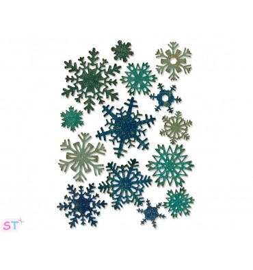 Troquel Thinlits Mini Paper Snowflakes