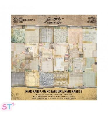 Paper pad Memoranda Tim Holtz 12x12 Idea-ology