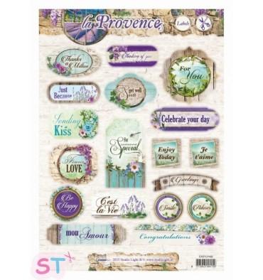 Hoja precortada La Provence Labels 2 A4