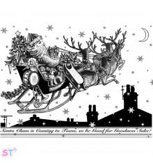 Sello Santa's Sleigh Ride