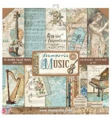 Music 12x12 Stamperia