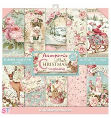 Pink Christmas 12x12 Stamperia