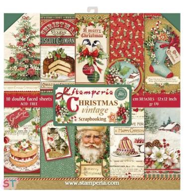 Christmas Vintage 12x12 Stamperia