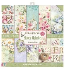 Flower Alphabet 12x12 Stamperia