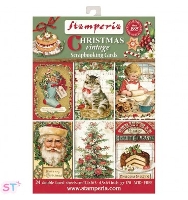Christmas Vintage Stamperia Cards