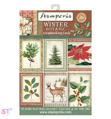 Winter Botanic Stamperia Cards