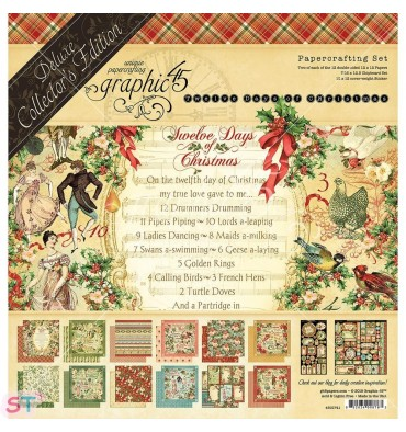 Deluxe Collector Pack 12 Days Of Christmas 12x12 Graphic45