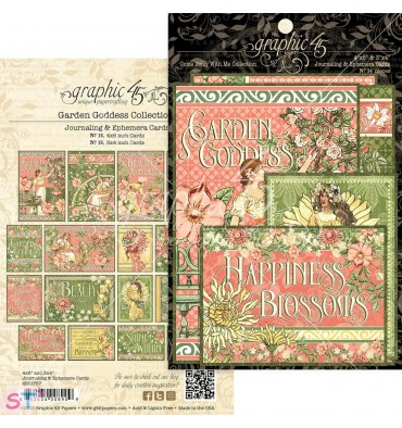 Garden Goddess Ephemera Cards Graphic 45