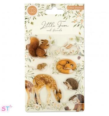 Sellos de silicona Little Fawn & Friends, Little Fawn