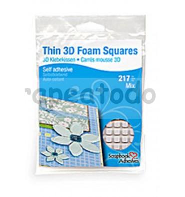 THIN 3D FOAM SQUARES Permanent  cuadrados