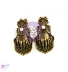 Victorian Hand Metal Clips x 2