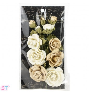 Staples Rose Bouquet Collection x 15 Beige
